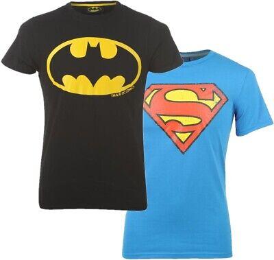 ✅DC COMICS Herren Batman o. Superman Logo T-Shirt Freizeit Sommer Sport Hemd NEU