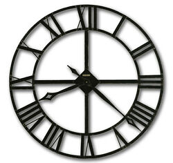 HOWARD MILLER 32 WROUGHT IRON,ROMAN NUMERALS, WALL CLOCK 625-372 LACY