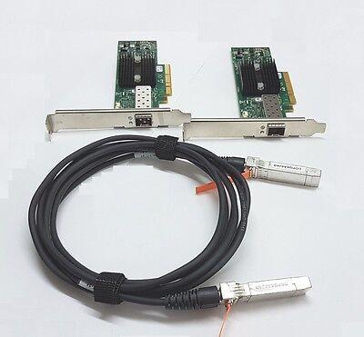 10G Netzwerk Kit 2x Mellanox ConnectX 10Gigabit NIC 10GBe 1x 3m SFP+ Cisco Kabel