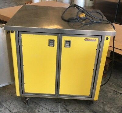 Portable Mobile Food Counter Delfield Shellyglas Stainless Steel Top Warmer