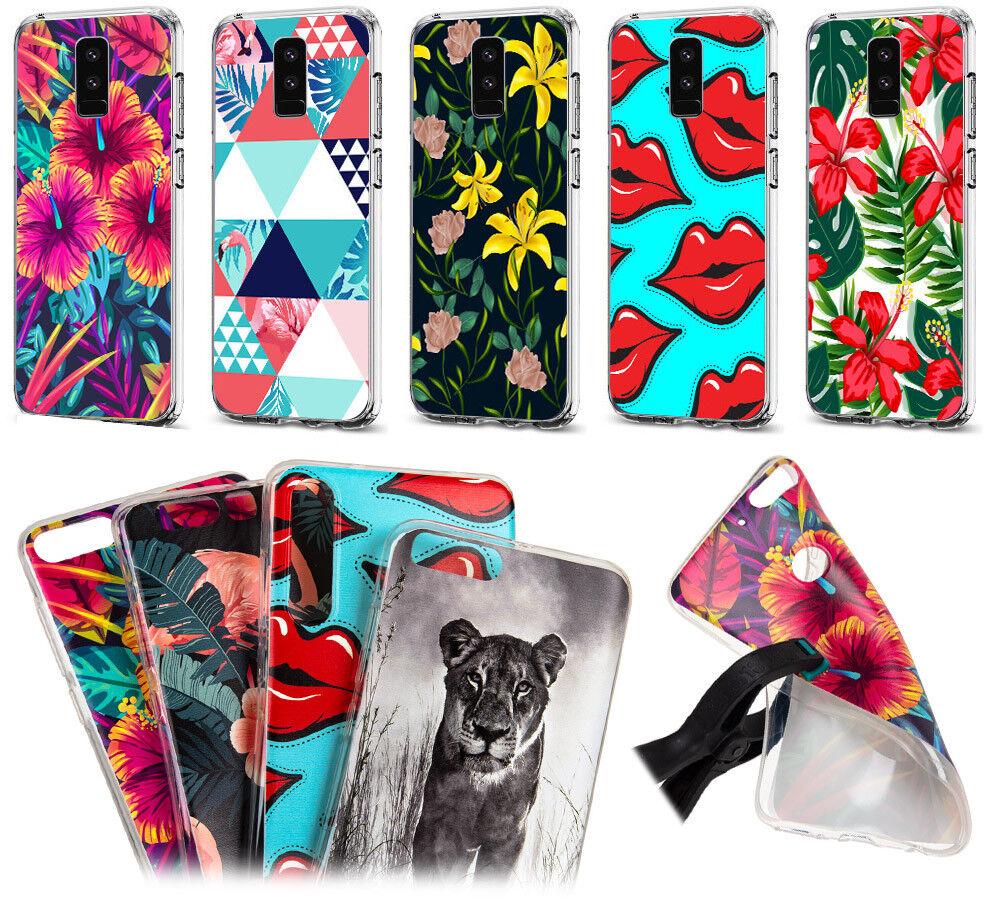Schutz Hülle für Motorola Handy Motiv Tasche Flip Case Schale Etui Silicon