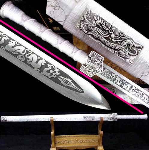 Chinese Dragon/Phoenix KungFu Han Jian Saber Sharp 1090Carbon Steel WuShu Sword
