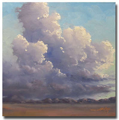 Oil Painting on Canvas Clouds Art Original Landscape Arizona Artist Jeff Love