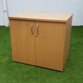 Beech desk high cupboard cheap