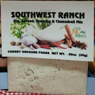 Southwest Ranch Dip Mix, makes dips, spreads, cheese balls &salad dressings