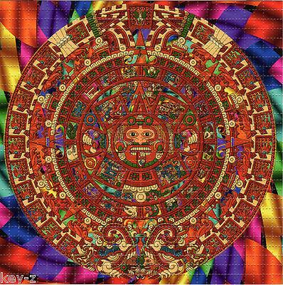 MAYAN CALENDAR perforated sheet BLOTTER ART psychedelic LSD acid free paper tabs