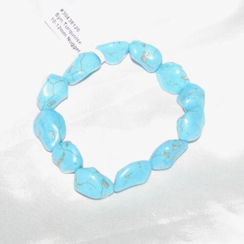 Turquoise Tumbled Gemstone Elastic Bracelet Wicca