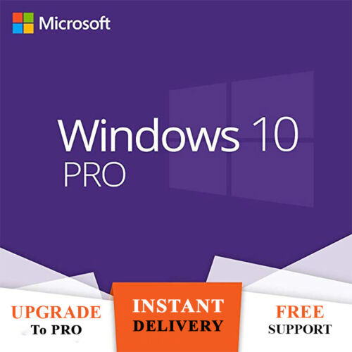 Windows 10 Retail Professional 32/ 64bit Genuine License Key - Upgrade To Pro