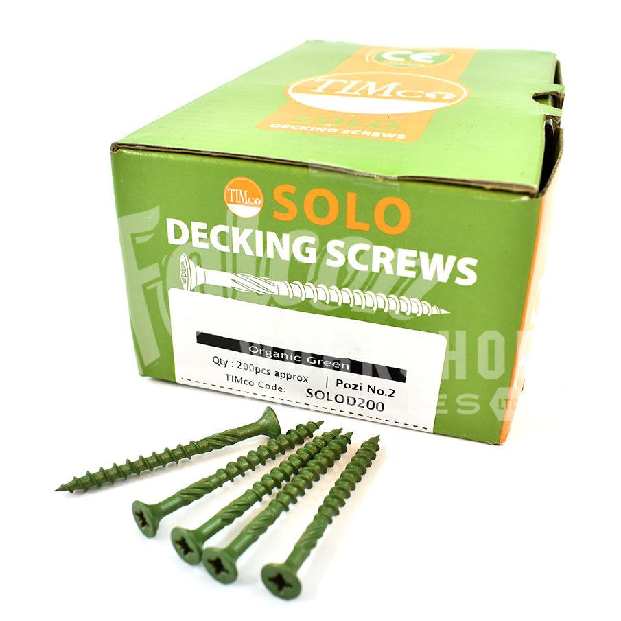 LANDSCAPE SCREWS GREEN COATED 800 x 50mm 60mm 70mm 80mm 90mm 100mm DECKING