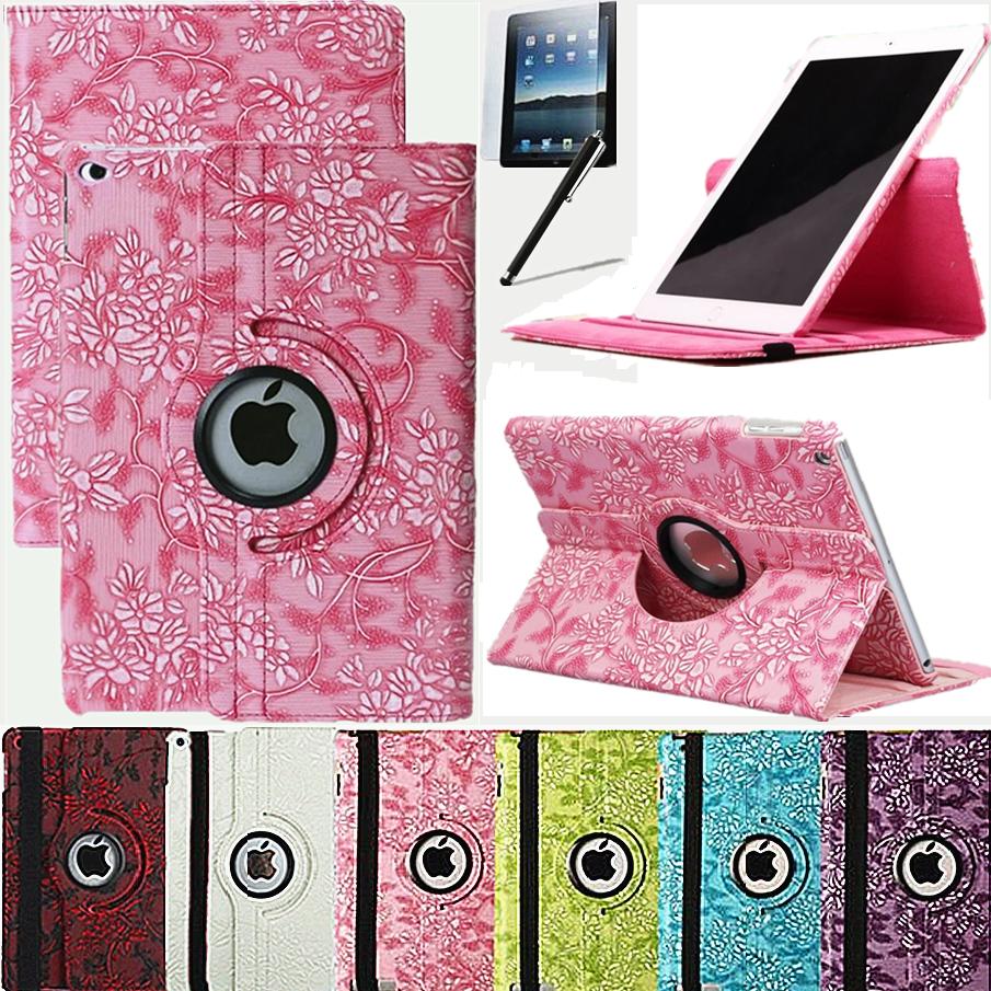 iPad Air 1 / 2017 2018 Tasche Schutz Hülle Blumen PU-Leder Case Cover 9,7