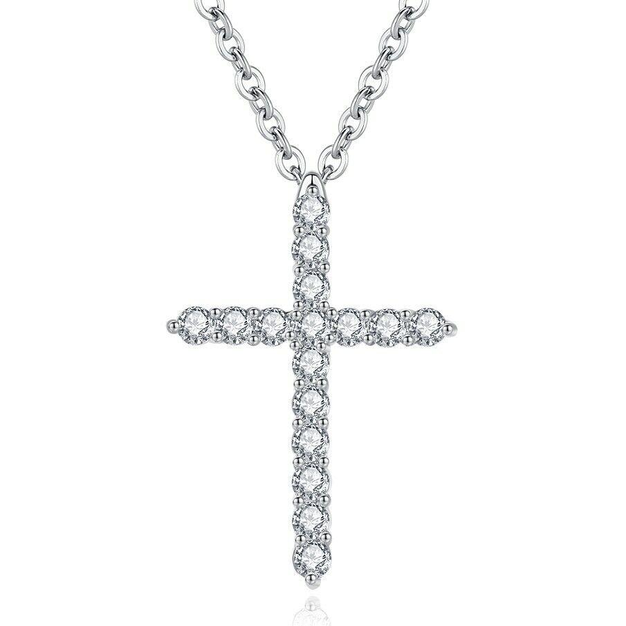 Jewellery - Sterling Silver Cross Zesus Chain Pendant Necklace Fashion Jewelry Women Gift