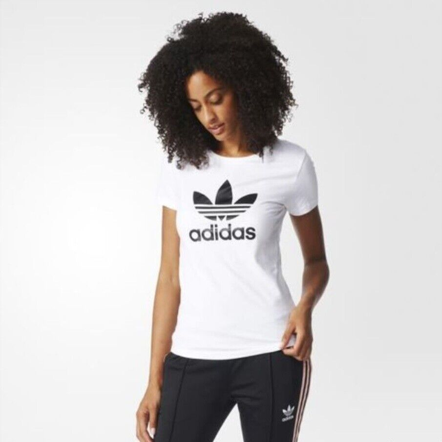 Adidas T-Shirt Damen Shirt Originals Trefoil Logo Tee Shirts  Da-02  NEU