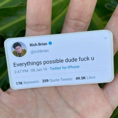 """Rich Brian premium indoor sticker - """"everything"""