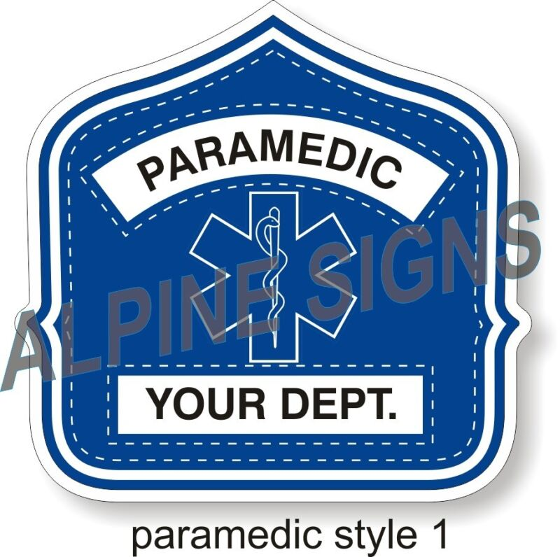 Fire Paramedic Engineer Helmet Shield sticker - Style 1 - Custom just for You!