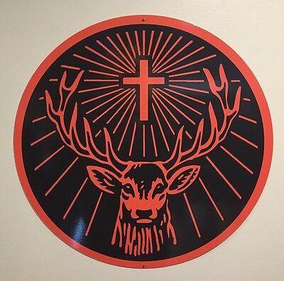 "Jagermeister 18"" Round Metal Sign"