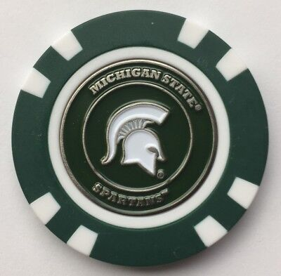 NCAA Michigan State Spartans Magnetic Poker Chip removable Golf Ball Marker