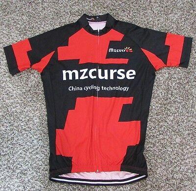 56ba2b038 Men s Mzcurse Front Zip Cycling Biking Jersey 2XL XXL Red Black