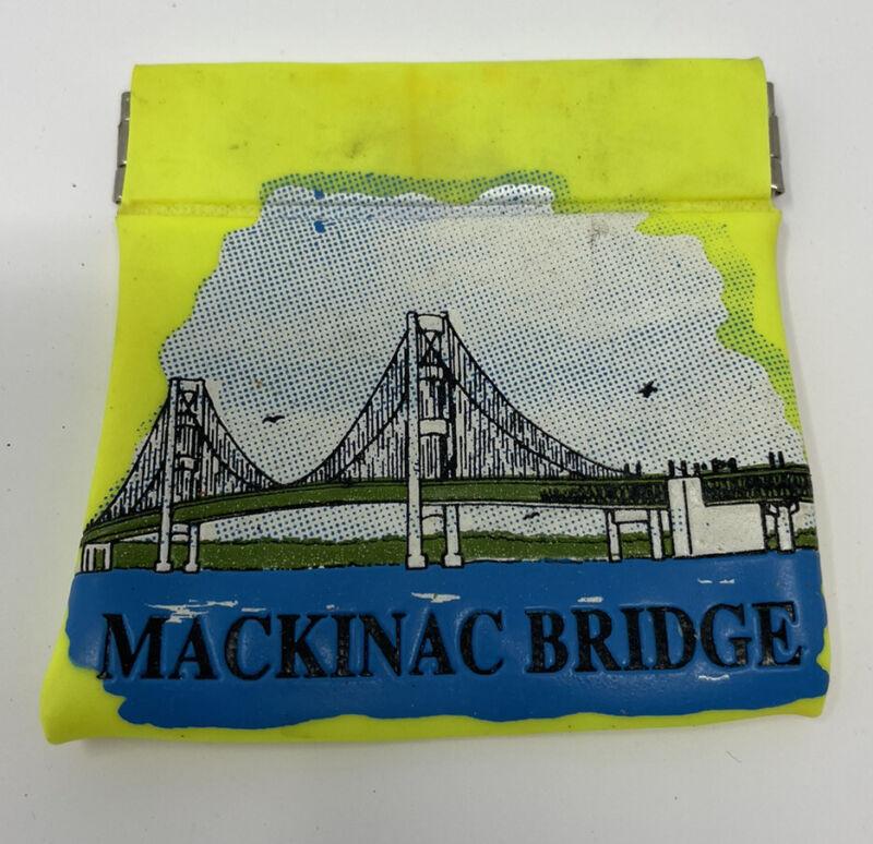 Mackinac Bridge Michigan VINTAGE Coin Purse Change Souvenir
