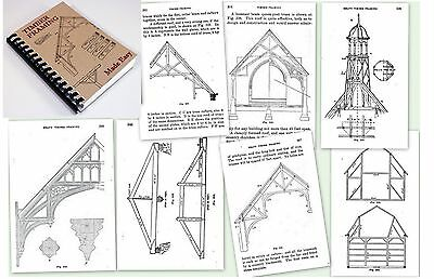 TIMBER FRAMING HOW-TO BOOK PLANS 1908 SLICK CHISEL MALLET 450pics 385pg LOG HOME