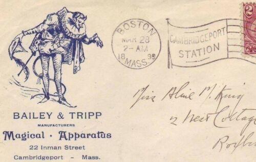 MAGICAL APPARATUS / MAGIC / MAGICIAN - BAILEY & TRIPP 1899 MASS Cover w # 286 !!