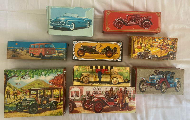Vintage Avon Collectible Car After Shave New In Original Box Lot Of 9