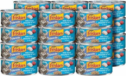 Adult Cats Food Purina Friskies Wet Cat Food Ocean Whitefish & Tuna (Pack of 24)
