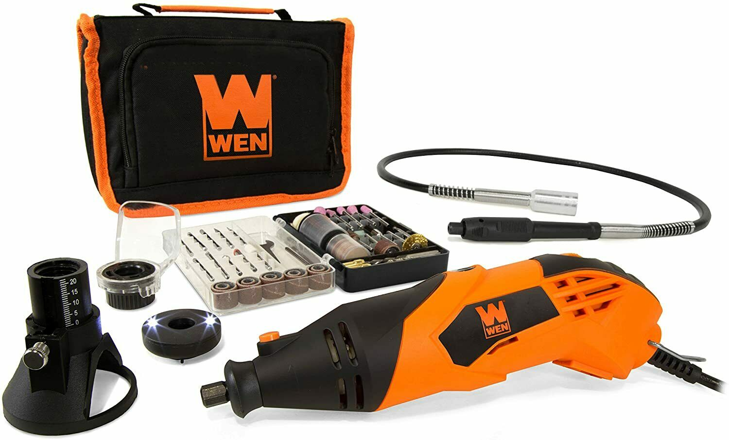 WEN 23114 1.4-Amp High-Powered Variable Speed Rotary Tool wi