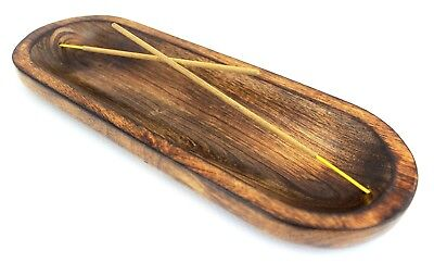11 Inch Catchers Mitt (Nirvana-Class 11 Inch Wood Hand Made Double Incense Burner Ash Catcher Decor )