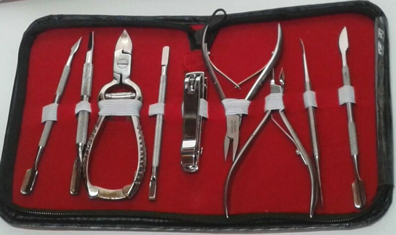 Chiropody Podiatry Nail Clippers/Nippers/Cutters Podiatry Instruments Set - 9pcs