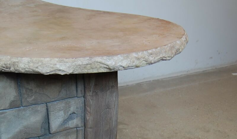 Aggressive Stone - Split Face Concrete Countertop Edge Form