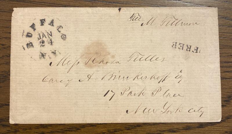 President Millard Fillmore Free Frank Envelope Signed - Great Association