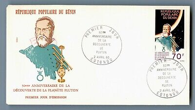 DR WHO 1980 BENIN FDC SPACE 50TH ANNIV PLUTO DISCOVERY  C240556