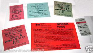6-BEATLES-Ticket-Pop-Rock-Concert-60s-Retro-Pass-Music-Theatre-Paul-McCartney-UK