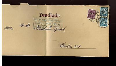 1923  Luckenwalde Germany Deutsche Bank Overside Cover Miama Label