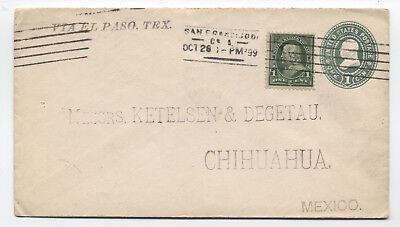 1899 San Francisco CA to Mexico Barry machine cancel via el paso [4044]