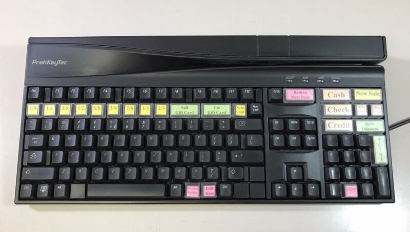 PrehKeyTec MCI 3100 Point of Sale Programmable Keyboard and Card Reader!