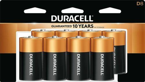 Duracell Coppertop D Alkaline Batteries, 8/Pack MN13R8DW