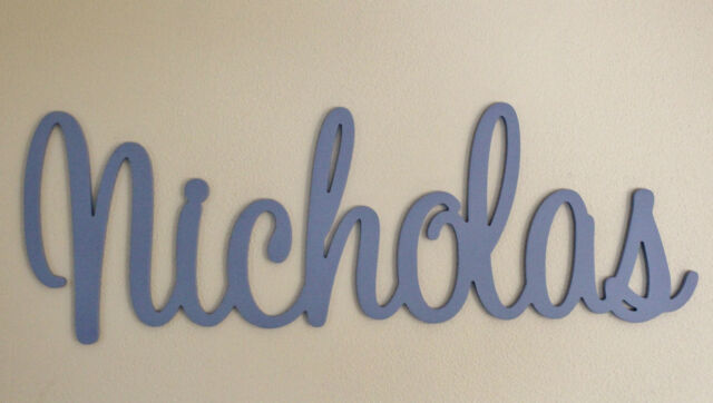 Kids Letters Wall Hanging Wooden Name Sign Nursery Baby UNPAINTED Raw MDF