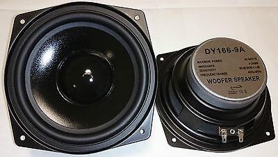 "1x DY-166-9A Dynavox 16cm 6,5"" Bass Lautsprecher 165mm Tieftöner 4Ohm"
