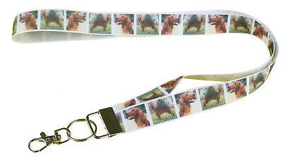 Irish Red Setter Breed of Dog Lanyard Key Card Holder Perfect Gift