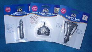 DMC Vintage Collection Accessories - Needle Case, Scissor Case & Thread Cutter