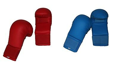 Wkf Karate Mitt - Karate or Taekwondo Gloves / Karate or Punch Mitts WKF Style & Quality, Red/Blue