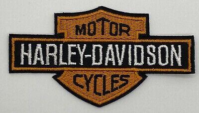 Harley Davidson Orange Black Motorcycle Patch Vintage Style Retro Hat Cap