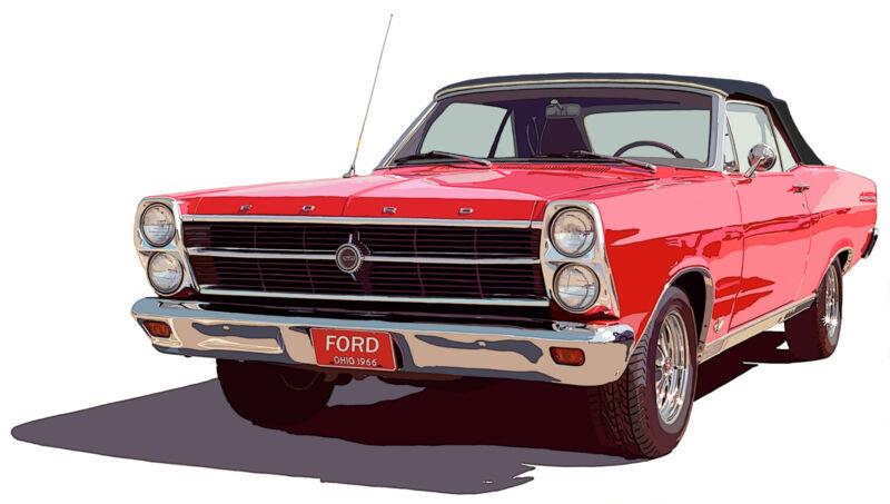 Ford 1966 Fairlane Convertible canvas print Richard Browne