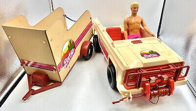 Rare Vintage 1973 Barbie Ken Bronco Jeep Truck Tonka Horse Trailer Set