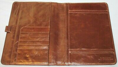 Franklin Covey Leather Burgundy Wine Jr Padfolio Agenda Cover Planner 10 X 7