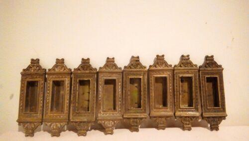 Vtg Victorian Recessed Bronze/ Cast Iron Pocket Door Pull/ Sash lift Ornate (8)
