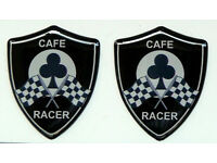 Set di 2 3D Doming Sticker Cafe Racer