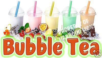 Bubble Tea Decal 18 Boba Drinks Concession Restaurant Food Trucks Vinyl Menu