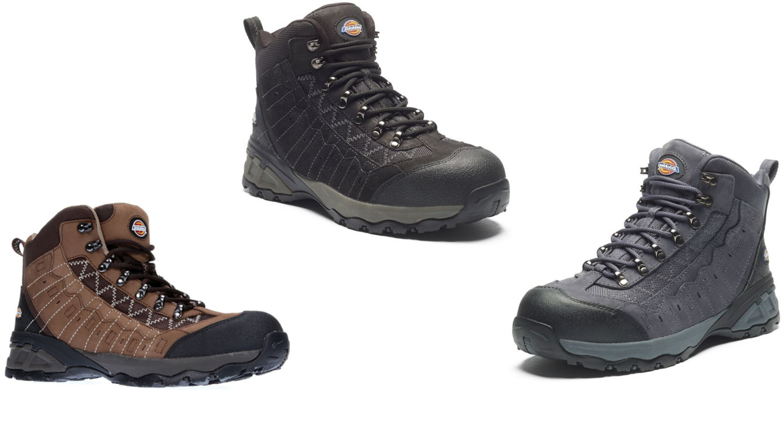 Men/'s Shoes Sizes 6-12 Dickies Gironde Safety Work Boots Black